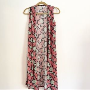 LuLaRoe Joy long vest size XS .